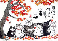 CATs ~ by Hajime Okamoto _____________________________ Reposted by Dr. Veronica Lee, DNP (Depew/Buffalo, NY, US)