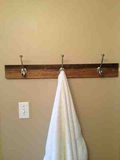 Diy towel rack. Much prettier than the store bought ones and tutorial contains detailed instructions.