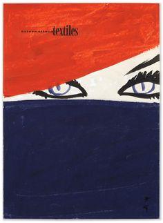 René Gruau - International Textiles - 1963