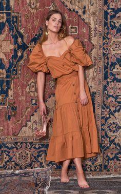 99580deba4 Essence Of Silence Cotton-Blend Puff Sleeve Dress by Johanna Ortiz PF19