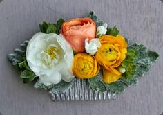 hair comb flowers by love n fresh flowers