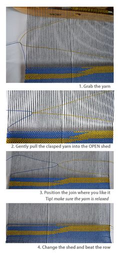 Clasped Weft Weaving Tutorial.. I want to try this.