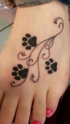 Foot Tattoos, Body Art Tattoos, New Tattoos, Print Tattoos, Girl Tattoos, Cat Paw Print Tattoo, Tattoo Cat, Celtic Tattoos, Tattoo Life