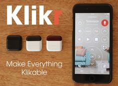 Klikr Is More Than A Universal Remote - BBDL have created a small Bluetooth device that allows you to make practically anything 'clickable' and then be able to control it using their companion application which supports both iOS and Android devices.  Klickr has been designed to be attached to any hardware device that is equipped with a remote control enabling you to be able to switch to your smartphone removing the need for multiple remotes to control. | Geeky Gadgets
