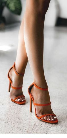 07aee4d8c9e Cute orange sandals and white nails