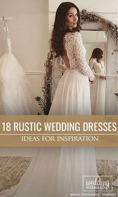 Bridal Inspiration: Rustic Wedding Dresses ❤ Floral lace will be beautiful addition to your rustic bridal gown. See more: http://www.weddingforward.com/rustic-wedding-dresses/ #wedding #rustic #dresses