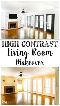 Living Room Makeover   High Contrast Paint