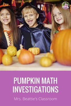 It's pumpkin season! This is the PERFECT time for pumpkin investigations! This pumpkin math resource contains estimation activities and measurement activities for your classroom. Estimate and then measure the circumference, weight, height, the number of seeds inside, and more! Click now to start the pumpkin fun! #pumpkins #halloween #pumpkinmath #pumpkinactivities #classroom