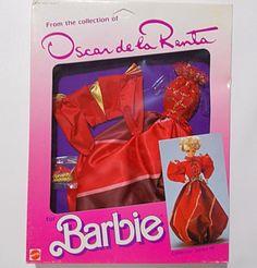 Barbie Oscar De La Renta Fashion 2763 Red Gown Collector Series IX 1985 #Mattel