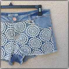 Crochet Shorts New denim shorts with crochet details never worn ??NO TRADES ??PP Mossimo Supply Co. Jeans