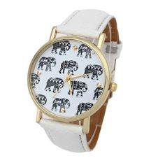 ELEPHANT WATCH WHITE