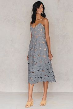 Floral Crochet Midi Dress