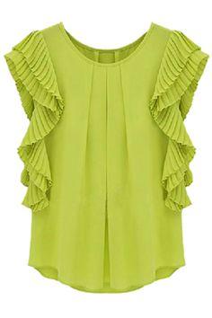 Layered Green Blouse
