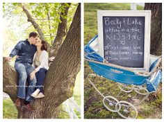 kissing in a tree...  Adorable pregnancy announcement.