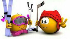 Ski heil !!! Du schaffst es! Emoji Pictures, Cute Pictures, Cartoon Pics, Cartoon Art, Smileys, Emoji Faces, Smiley Faces, Romantic Pictures, People Laughing