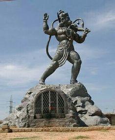 Anjaneya statue at Tumkur road Hanuman Photos, Hanuman Chalisa, Durga, Jai Hanuman Images, Hanuman Tattoo, Hanuman Ji Wallpapers, Shiva Shakti, Shiva Hindu, Krishna Krishna