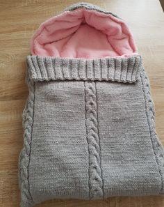 Fusak pro miminko - Mum, so what? Free Baby Blanket Patterns, Baby Knitting Patterns, Baby Patterns, Knitted Baby Clothes, Knitted Baby Blankets, Kids Bear Costume, Crochet Cable Stitch, Baby Bunting, Baby Cocoon