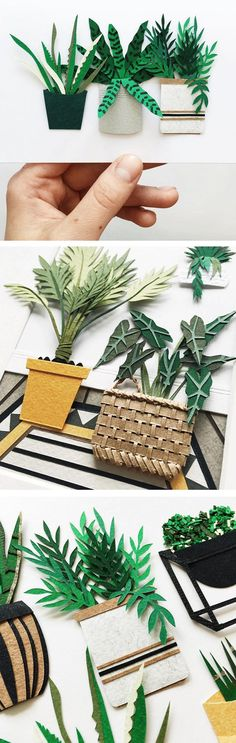 Paper plants by Lissova Craft #papercraft