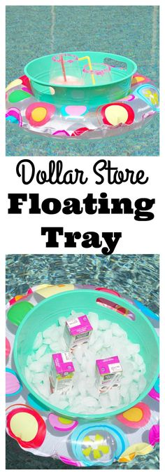 Dollar Store Floating Tray #summerdiy #poolparty #summerparty #diys #easydiy #crafts #partyhack