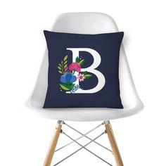Almofada Monograma Floral B de @werlang | Colab55