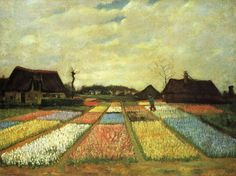 Bulb Fields by Vincent Van Gogh, 1883