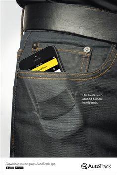 nl: Pocket, 1 (Ads of the World™) Ads Creative, Creative Posters, Creative Advertising, Advertising Design, Creative Design, Graphic Design Posters, Graphic Design Inspiration, Insurance Ads, Insurance Marketing