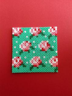 Roses hama perler beads