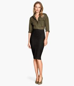 Ribbed Pencil Skirt | H&M US $30