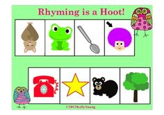 Printable learning center rhyming games with adorable owl theme. Includes 3 different games....