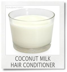 coconut milk hair conditioner mask
