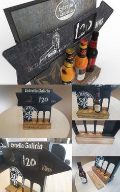 Display Estrella Galicia Flecha Diseño de PLV | POP POS Retail Design #osdesign_es #diseño #design #plv #display Display Stands, Arrows, Point Of Sale, Stars, Pos