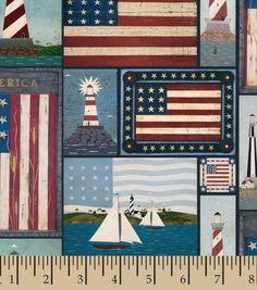 Patriotic Fabric-American Shores