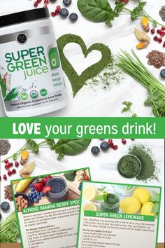 Give your body and mind what it needs! One scoop of Super Green Juice contains 44 organic superfoods to feel your best. Skip the shopping, prep time and cleanup and experience the simplicity of mixing and enjoying a Super Green Juice. Green Superfood, Superfood Powder, Organic Superfoods, Detox Program, Super Greens, Feel Better, Juice, Berries, Banana