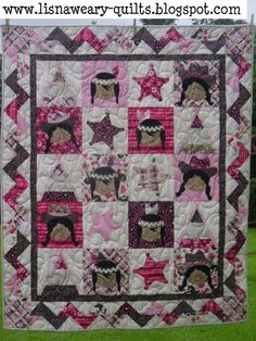 Wild West Girls quilt tutorial. I could use the cowboy and Indian fabrics with this.