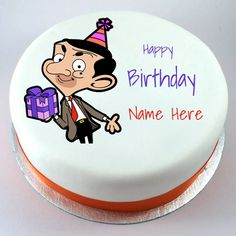 Happy Birthday Mr Bean Funny Cartoon Cake With Your Name.Cute Mr Bean Cake With Name.Personalized Name Birthday Cake Pics.Generate Name on Cake.Cake Name Pics Cartoon Happy Birthday, Happy Birthday Wishes For Her, Happy Birthday Disney, Funny Birthday Cakes, Birthday Wishes Cake, Birthday Wishes And Images, Happy Birthday Name, Wishes Images, Birthday Images