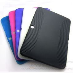 Hot Selling! Soft Silicone Rubber Protective Skin Case TPU Cover for Samsung Galaxy Tab 3 10.1 P5200 P5210 PC table Accessories