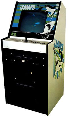 Cabinet for shark JAWS, an arcade video game by Horror Games/Atari 1975 Retro Arcade Games, Mini Arcade, Pinball Games, Vintage Video Games, Classic Video Games, Pet Sematary, Consoles, Playstation, Flipper