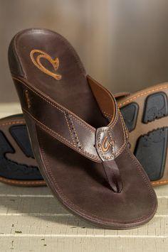2a6e425e58f7 Men s OluKai Nui Leather Sandals