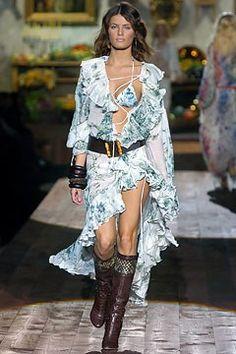 Roberto Cavalli Spring 2005 Ready-to-Wear Fashion Show - Isabeli Fontana