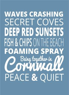 Back from a brief weekend in #Cornwall and the first thing I do is put it into words...  #Typography