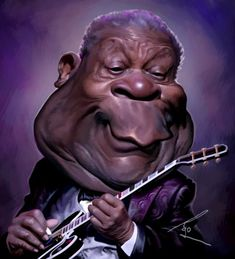 caricature BB King by Besik Dugashvili (besikdug)