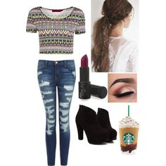 Got to have the Starbucks by motavator17 on Polyvore featuring polyvore, fashion, style, Boohoo and Current/Elliott