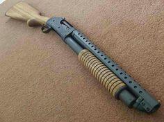 Short-barrel shotgun with heat shield