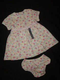 f045728c458cb NWTS Baby GAP Girl 12-18 Months 12 18M Dress Floral Set Outfit Spring