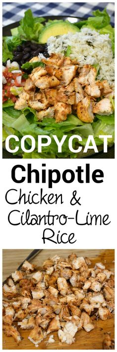 This is the absolute best recipe to use if you want to make a salad bowl exactly like Chipotle. #chipotlechicken #copycatchipotle
