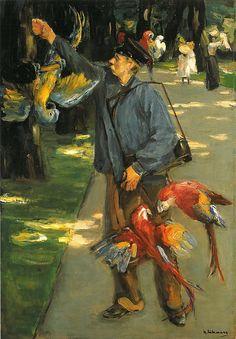 The parrot man, 1902, Max Liebermann.    German Impressionist Painter (1847 - 1935)