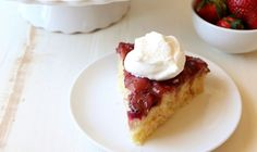 Strawberries and rhubarb are the perfect way to welcome spring, whether it's a family dinner or a weekend brunch. This strawberry-rhubarb upside down cake is simple, fun and even more delicious when served with sweetened whipped cream. Print RecipeStrawberry-Rhubarb Upside Down Cake Prep Time: 15 minutesCook Time: 30 minutesTotal Time:Get the Recipe