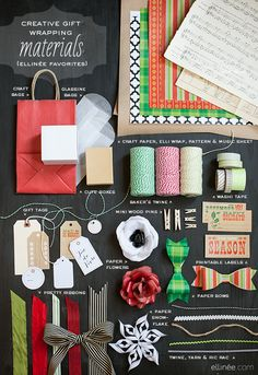 I always try to be creative when wrapping gifts, but usually run out of time and just use normal paper. This is a good pinboard to remind me. #christmas #giftwrap