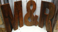 Rustic Barn Wood Letters