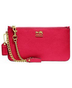 COACH MADISON LEATHER CHAIN WRISTLET - COACH - Handbags & Accessories - Macy's